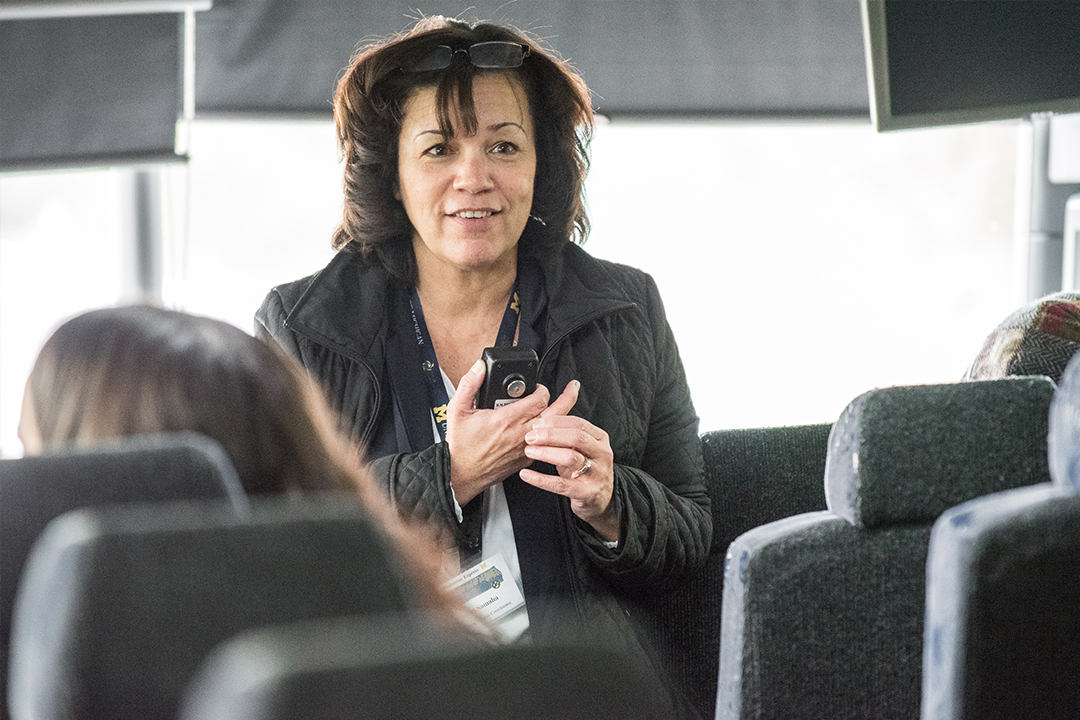 Sheri Samaha on the bus