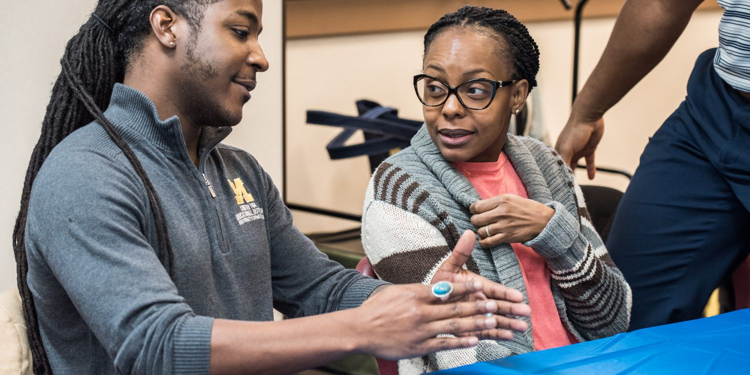 Center for Educational Outreach visits Battle Creek HS via Wolverine Express on 10-30-2018