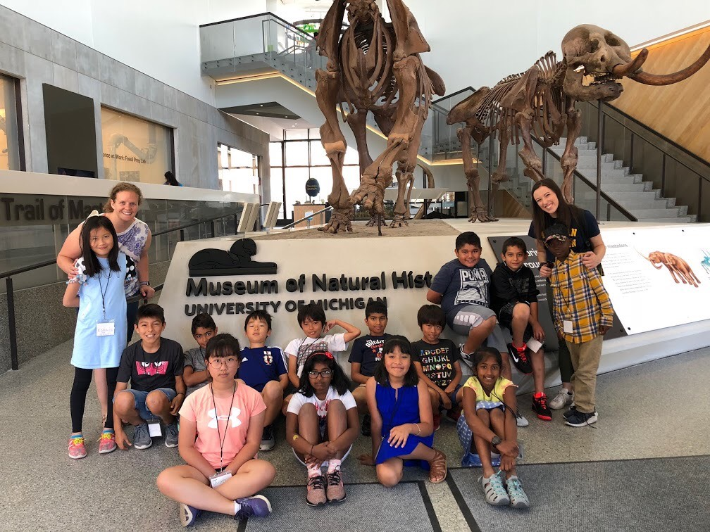 Young students at Museum